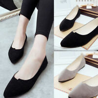Women Soft Boat Shoes Casual Flat Ballet Slip On Flats Loafers Working  Shoes F