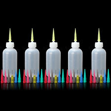 5 x Jam Painting Squeeze Bottles 35 Nozzles Cake Decorating Craft Frosting Sauce