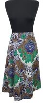 EAST Skirt Size 10 Blue Brown Green Boho L30in Party Summer Evening Holiday