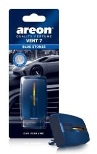 Areon Vent 7 Car Perfume Vent Clip AC and Fan Air Freshener, Blue Stones Scent
