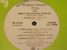 VA A&M FOREPLAY #40 LP promo jerry knoght, john cale, ltd, denis brown
