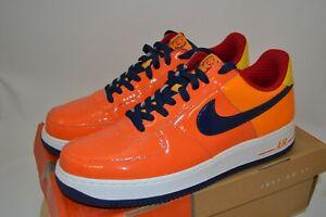 Nike Houston Astros Air Force 1 VIP Hyperstrike Orange Patent Promo Sample 11.5