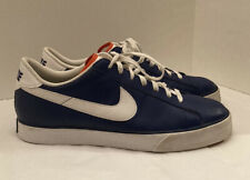 NIKE SWEET CLASSIC MENS 12 LEATHER SHOES RoyalBlue/White Used Good Condition