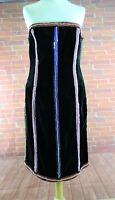 New Womens Ladies Party Evening Escada Black Sequined  Dress - UK12  EU40  US8