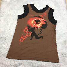 309 Designs Journey Rock Band Womens Brown Black Tank Shirt Sz Large
