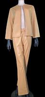 Vintage Vera Pelle Italian Soft Tan Leather Jacket and Pants