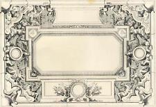 Décoration Peinture Ornement Plafond Pralon - Architecture Lithographie XIXème