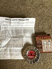 Vintage Walk A Matic Jogger Hiking Walking Running Pedometer Complete 1985