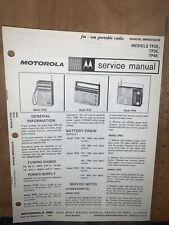 Motorola Portable Radios-Models TP2E,3E,4E- Schematics, Parts List.