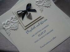 Luxury Save the Date Card / Vow Renewal - Shell / Beach Theme - Personalised