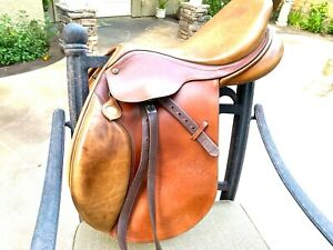 Bates Caprilli 15.5 Inch English saddle Close Contact Jumping Equitation Hunter