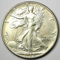 1938-D Walking Liberty Half Dollar 50C Coin - Choice XF / AU Detail - Rare Date!