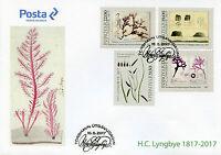 Faroes Faroe Islands 2017 FDC H.C. Lyngbye Botany 4v Cover Plants Algae Stamps