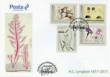Faroes Faroe Islands 2017 FDC H.C. Lyngbye Botany 4v Cover Plants Algae Stamps