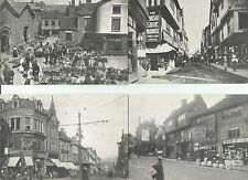 Coventry Market Cross Cheaping Bull Ring Libraries Collection 1956  Postcard x 4