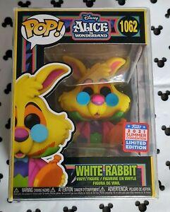 Funko Pop White Rabbit Blacklight 1062 Alice in Wonderland Black Light Vinyl &PP