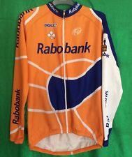 RABOBANK vintage Full Zip cycling jersey jacket maglia Men's Medium