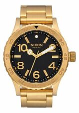 Nixon Original 46 A916-510 All Gold / Black Dial 46mm Watch