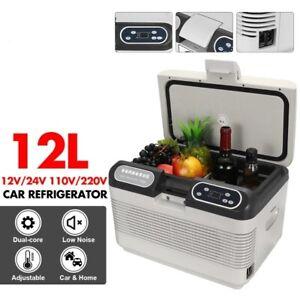 12L Car Home Refrigerator Mini Fridge Portable Cooler Warmer Travel 75W LED disp
