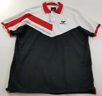 Born Fly Men's Short Sleeve Polo Shirt 2XL XXL Red White Black Casual Cotton