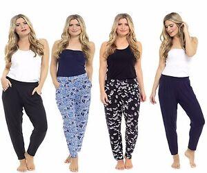 LADIES Women summer Jersey Harem Trousers Boho Ali Baba Baggy Leggings Pants