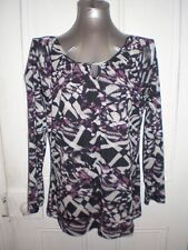 BNWT MIllers size 16 Monte Carlo poly cut out mesh harlequin l/slv top in EC