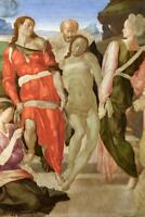 Michelangelo The Entombment Mural inch Poster 36x54 inch