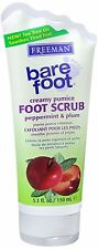Freeman Bare Foot Creamy Pumice Foot Scrub Peppermint - Plum 5.30 oz (Pack of 8)