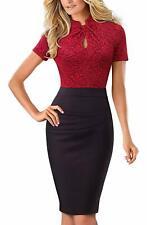 HOMEYEE Women's Short Sleeve Business Church Dress B430 Size 6
