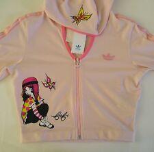 RARE~ADIDAS FAFI BOLERO Jacket supergirl sweat Hoody shirt track top Womens S~