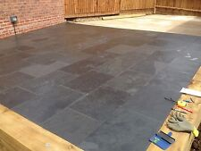 Black Slate Paving✔Patio Slabs Garden ✔16m2 600x400mm 15to20mm✔FREE✔DELIVERY✔