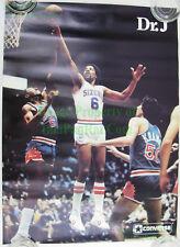 OLD STOCK Converse Basketball Poster Dr J Julius Erving Sixers Walter Davis Suns