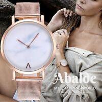 Reloj Pulsera Mujer Casual Mármol Analógico Fashion Acero Inox 38 mm Regalo