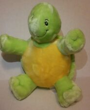 "Little Miracles 10"" Turtle Plush Green Costco Baby Yellow Soft Lovey"