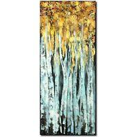 ORIGINAL Acryl Bild Gemälde Abstrakt Malerei Kunst Modern UNIKAT Birkenwald Gold
