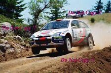 Carlos Sainz Ford Focus RS WRC 01 Acropolis Rally 2001 Photograph