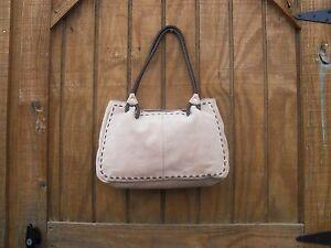 Women Purse ~ Genuine Suede Hand Bag ~ Beige ~ Pre-Owned (#32)