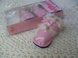 Pink Faux Fur Bow Boots S M L Dog Shoes Smoochie Pooch Pet snow salt Large