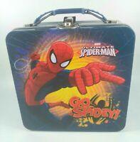 "Spiderman Metal Lunch Box Tin ""Go Spidey"" 2015"