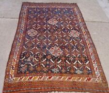 "4'3"" x 7'8"" Hand-Knotted 100% Wool Tribal India Blue Antique Oriental Area Rug"