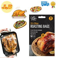 10 Large Roasting Bags Microwave Oven Cooking Poultry Chicken Turkey Meat Fish