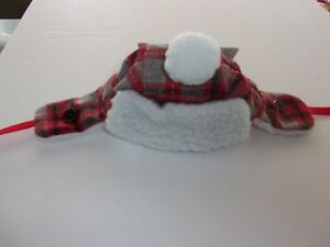 Plaid TRAPPER Cat HAT Cap (Sm Dog) Christmas One size Halloween