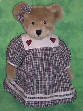"Boyd's Bears Plush Teddy~JENNY McBRUIN~16""~Gingham & Hearts~QVC Exclusive~"