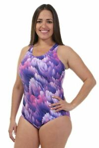 Nova Swimwear Shelf Bra Dahlia One Piece Plus Size Chlorine Resistant Swimsuit