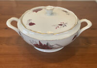 Vintage Cmeilow Soup Tureen Poland Pink Rose China Porcelain Good Condition