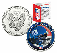New York géants 29.6ml .999 Argent fin AMERICAN EAGLE US pièce de monnaie NFL