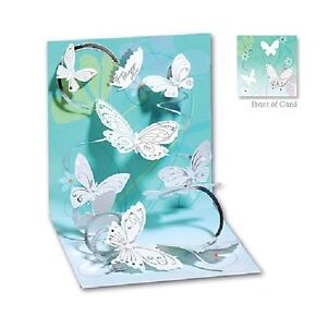 3D Pop Up Greeting Card from Up With Paper - FLOATING BUTTERFLIES - UP-WP-633