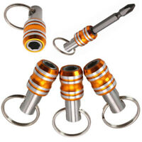 Stainless Steel Sleeve Magnetic Screwdriver Bit Holder Socket Rod Keychain Tool