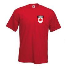 Magliette da uomo rossi marca Fruit of the Loom Taglia XXL