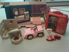 Vintage 1960s Remco Heidi Pocketbook Doll Play Sets (3) Hospital, Auto and Bath